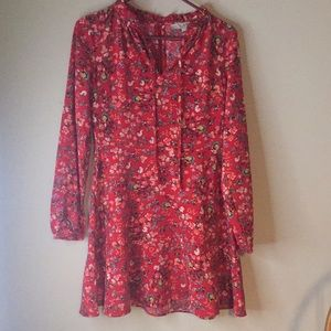 LOFT FLOWER DRESS • SIZE 0. • NEVER WORN/ NWOT